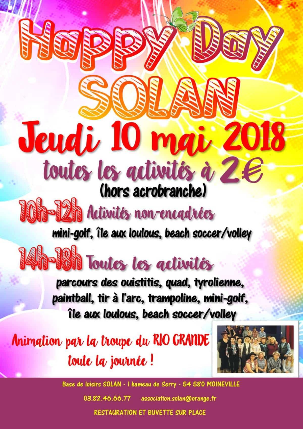 Activités à prix tout doux jeudi 10 mai  !!