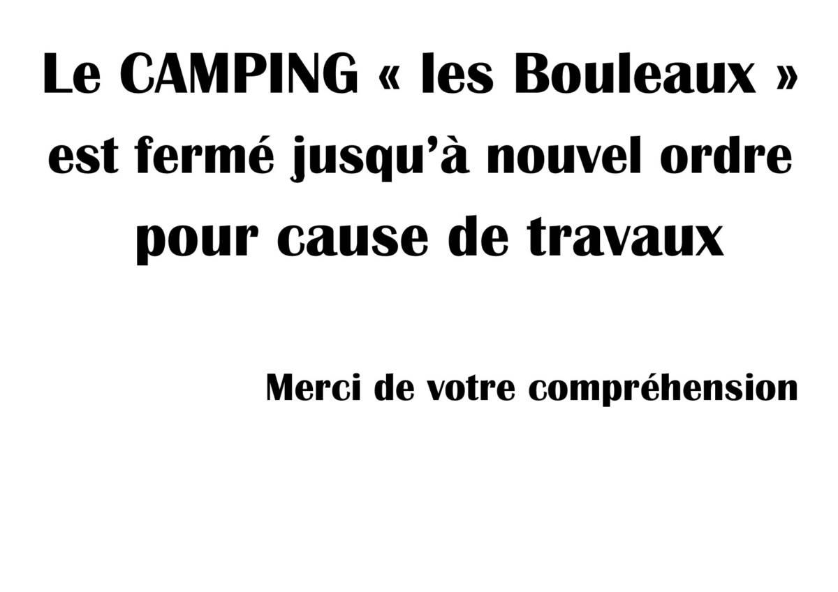 CAMPING «LES BOULEAUX»